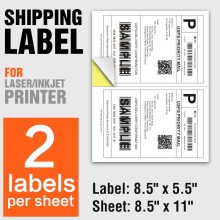 A4 adhesive address paper stickers shipping labels ups 2 UP per sheet