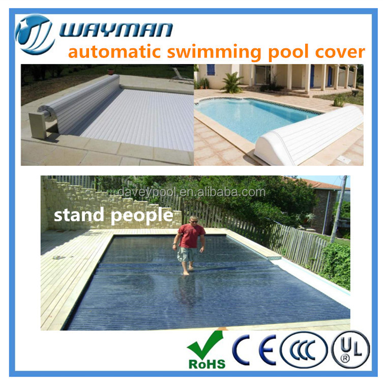 2016 new factory made PVC stand people automatic swimming pool covers