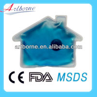 Promotional Gel Blue Mini Hand Warmer /Reusable instant hot cold pack/New product for 2013(CE/FDA/SGS)