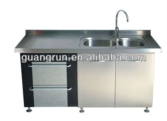 Commercial stainless steel kitchen sink cabinet gr g2000 for Kitchen cabinets 700mm