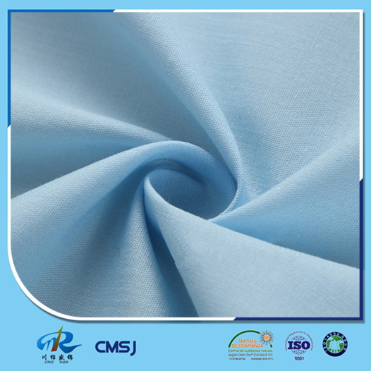 Polyester cotton 45s 133*72 plain poplin lining fabrics for shirts
