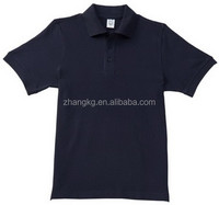100%cotton navy blue men's lapel t shirts,polyester short sleeve polo lapel t shirts