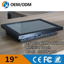 "latest computer models 19"" industrial fanless mini pc"