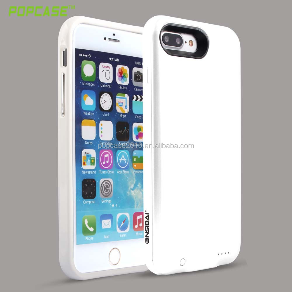 New design 3000mAh rechargeable battery charger case for iPhone 7 plus