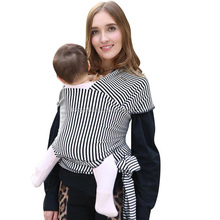 Factory direct sales stripe baby sling carrier stretchy baby wrap carrier with cheap price
