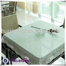 100%polyester The factory custom lace fabrics embroidered tablecloths