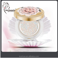 silky smooth face powder easy to wear oil control waterproof compact powder your name foundation