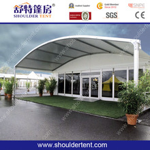 2017 Aluminum PVC marquee tent factory direct sell curve arc Canopy tent for sale-shoulder tent