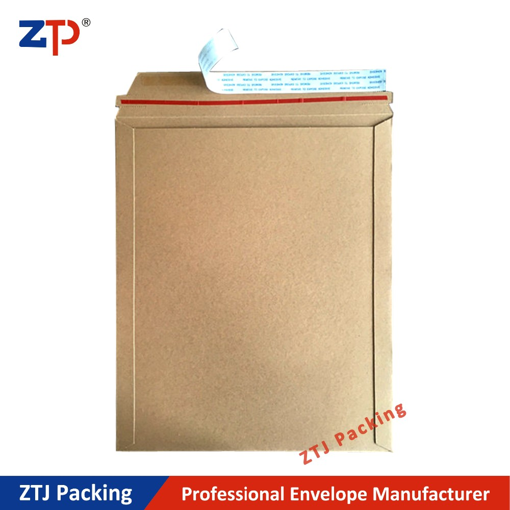 A4 size brown kraft paper rigid envelopes stay flat mailers