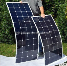 Hot sell new designed high efficiency semi flexible solar panel for RV car/ boats/ marine from China factory directly