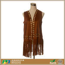Women's Long Fringes Tassel Faux Suede Leather Pashmina Scarves Shawls
