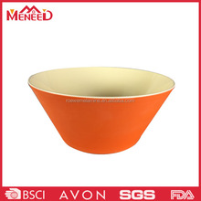 Round shape plastic restaurant use for vegetable salad , melamine clear salad container