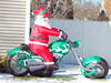 2014 hot selling good quality moto inflatable christmas santa