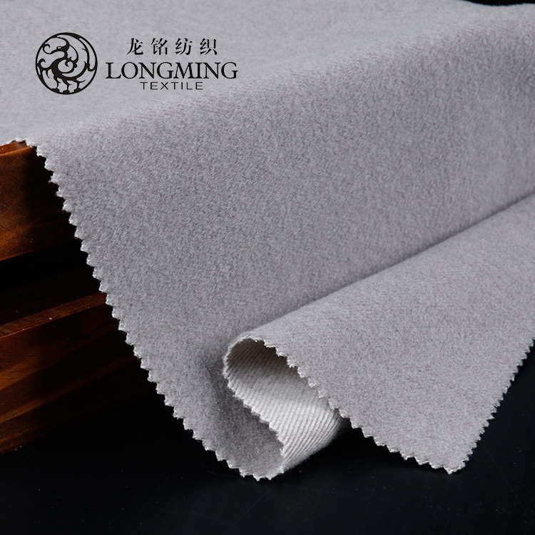 Manufactory price comfortable fake wool clothing woven fabric textile
