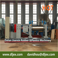"China 16"" XK-400 two roll rubber compound mixing mill made by Dalian Rubber Machinery"