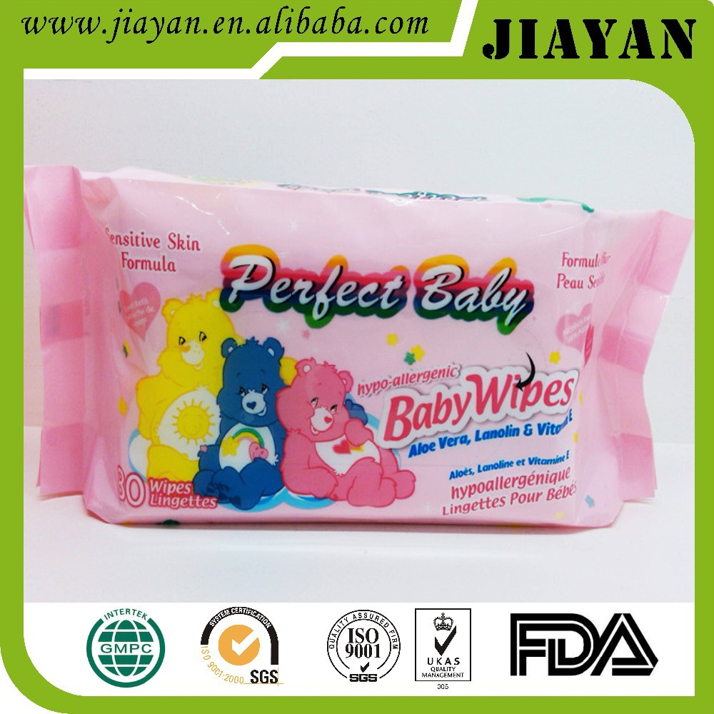 Factory of Spunlace non-woven Alcohol free baby wet tissues