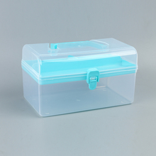 Factory price colorful wholesal plastice tool boxes for storage