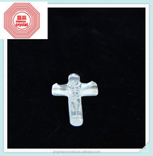 2015 High Quality Customize Pure NATURAL Rare Engravable Religious Crystal Cross For Christening Souvenir