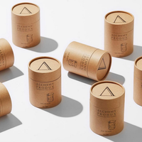 Eco friendly candle cylinder packaging/kraft paper box