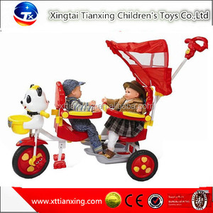 Wholesale high quality best price hot sale child tricycle/kids tricycle/baby tricycle 2 seat child tricycle