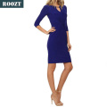 China fashion design sexy women bodycon bandage dress cheap elegant blue dresses