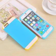 Rugged hybrid plastic silicone dual layers combo phone case For iphone 6