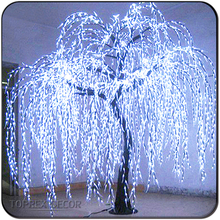 Garden decor led weeping white willow tree lighting
