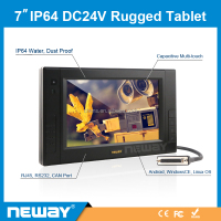 IP64 7 inch Capacitive Touch Screen panel Tablet PC for WinCE 7.0/Android/Linux Debian 6