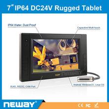 IP64 7 polegada painel Touch Screen Capacitiva Tablet PC para WinCE 7.0/Android/Linux Debian 6