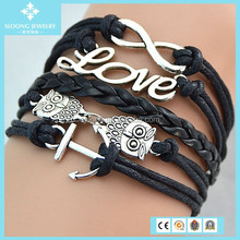 Silver Infinity Love Owls Anchor Sailor As Make Bracelet