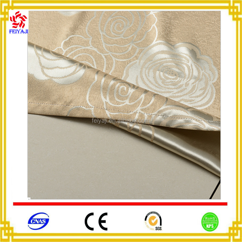 Hot Selling New Design Jacquard Curtain Fabric Beige color Jacquard