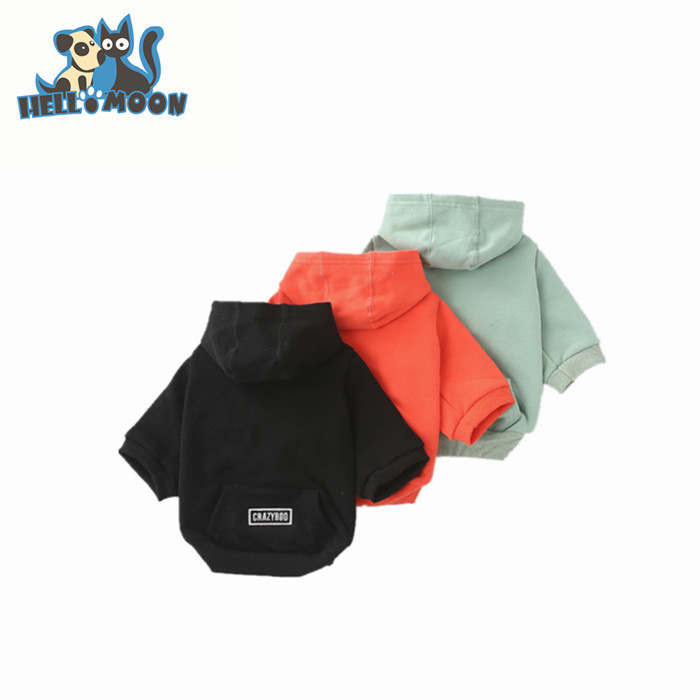 Wholesale Bangkok High Quality Plain Blank Simply She Cheap Cotton Pet Dog Hoodie Clothes