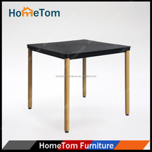 Modern Kitchen Furniture Square Shaped Wood Legs MDF Dining Table