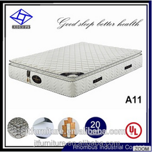 Vacuum compressed sleep well memory foam pocket coil spring mattress