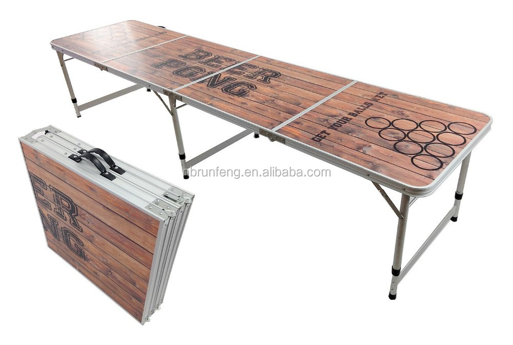 factory directly sale custom logo beer pong table