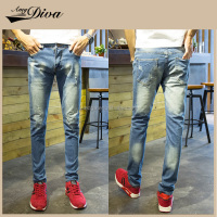 New model slim fit blue jeans pants wholesale fashion denim jeans trousers for men
