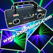 Green and purple laser show system