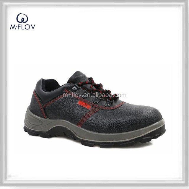 Insulative anti-thorn split leather safety shoes