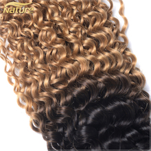 7A Brazilian ombre natural black blonde color curly human hair extensions virgin afro brazilian kinky curly hair