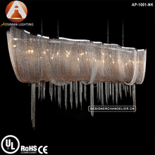 Atlantis Suspension Light Nickel Chains Chandelier