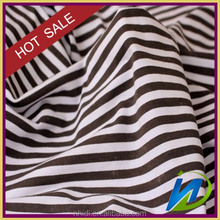 100% cotton blue/black/yellow stripe single shirt/dress fabric