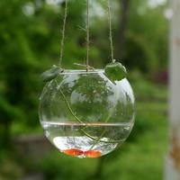 wholesale home decoration fish vase hanging glass