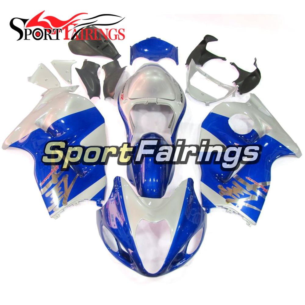 Injection ABS Blue Silver Fairing Kits For Suzuki GSXR1300 Hayabusa 1300 97 98 99 00 <strong>01</strong> <strong>02</strong> 03 04 1997-2007 Motorcycle Fairings