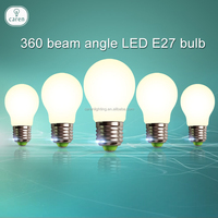 Caren E27 bulb 360 beam angle LED E27 bulb base pure warm withe lights