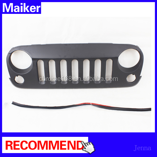 For jeep wrangler grille auto parts car grille for jeep wrangler jk 07+ from Maiker