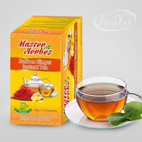 Instant saffron ginger flavored drink powder