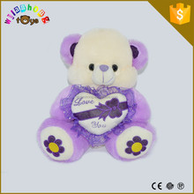 2015 China manufacturer best selling cute diamond bear plush toy