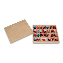 kids gift wholesale montessori educational supplies small movable alphabet letters imprinted inside the box