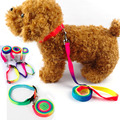 Beautiful Design Rainbow Color Nylon Dog Lead and Collar