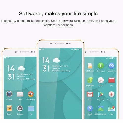 Original drop shipping DOOGEE F7 32GB unlocked smart phone smartphones 4g MOBILE cell phone wholesale low price